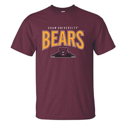 Shaw U064 Maroon Bears Tee