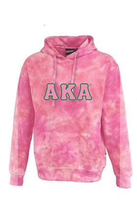 AKA022 TieDye Pink Hoodie