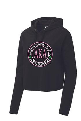 AKA019 Ladies Triblend Crop Hooded Pullover