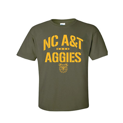 NCA&T103 Aggies Olive Green Short Sleeve