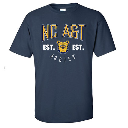 NCA&T135 Navy Short Sleeve