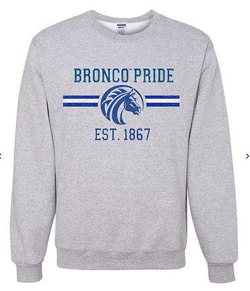 FSU013 Gray Bronco Pride Sweatshirt