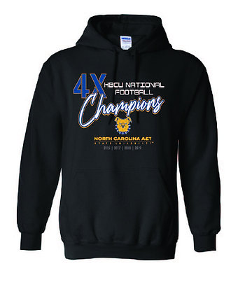 4X HBCU National Football Champions Black Hoodie
