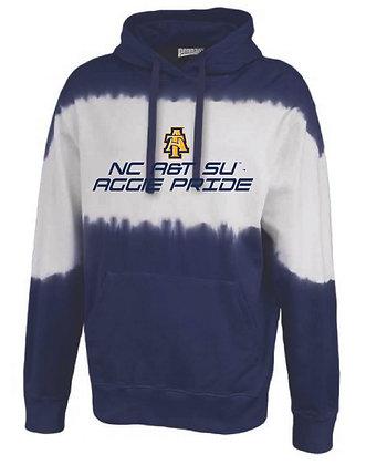 NCA&T170C Navy Tie-Dye Hoodie