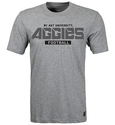 NCA&T077 Grey Aggies Football Pride Short Sleeve
