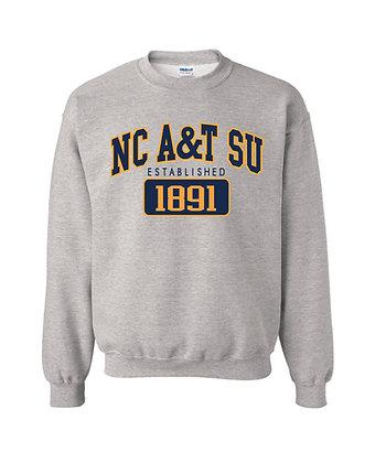 NCA&T173SS Grey A&T Sweatshirt