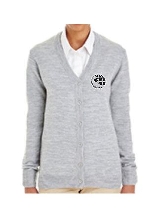 M425W - Harriton Ladies' Pilbloc™ V-Neck Button Cardigan Sweater