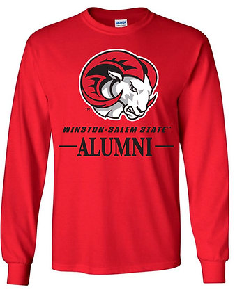 WSSU017 RED ALUMNI LONG SLEEVE