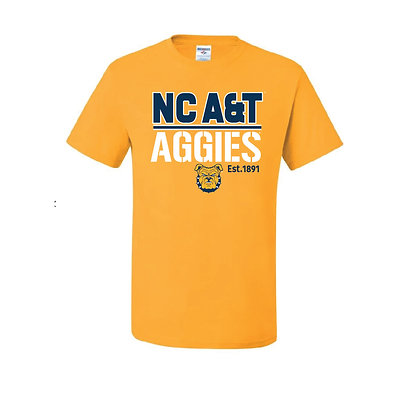 NCA&T098 Aggies Gold Short Sleeve