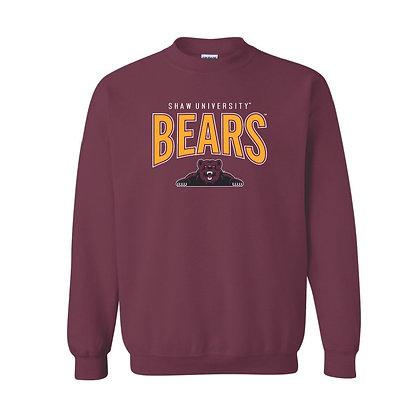 SU064SS Maroon Bears Sweatshirt