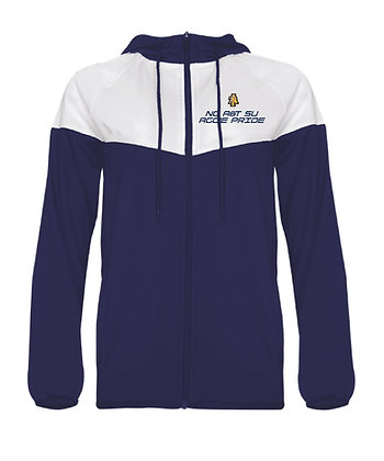 NCA&T178LE Navy/White Ladies Hooded Jacket