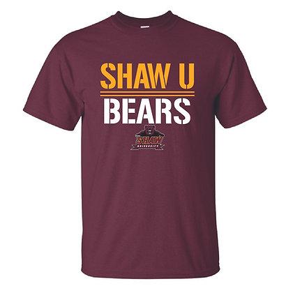 Shaw U 068 Maroon Tee