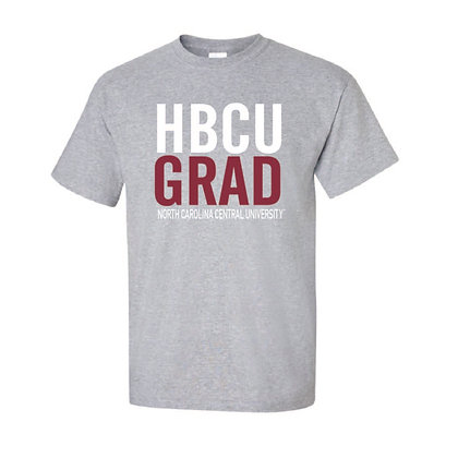 NCCU074 Gray HBCU Short Sleeve Tee