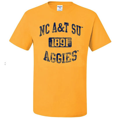 NCA&T073 NC A&T SU Gold Short Sleeve