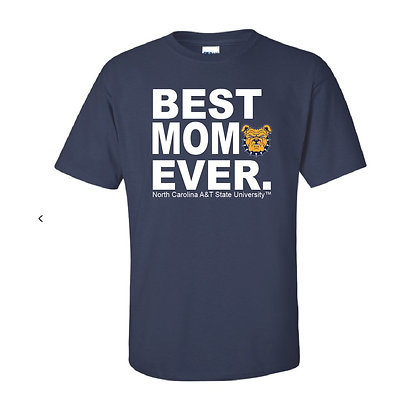 NCA&T152 Navy Best Mom Ever