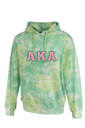 AKA022 TieDye Green Hoodie