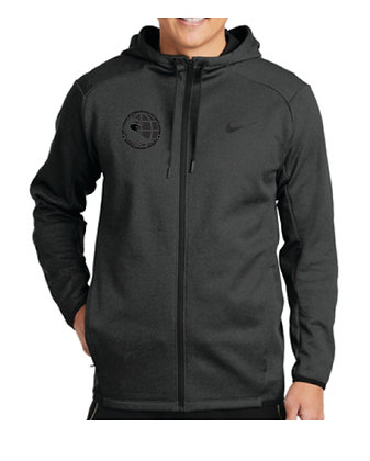NKAH6268 Nike Therma-FIT Textured Fleece Full-Zip Hoodie