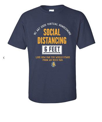 NCA&T168SN Navy Social Distancing Tee