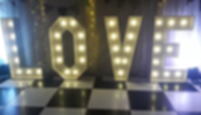 White Light Up Letters LOVE KSD EVENTS