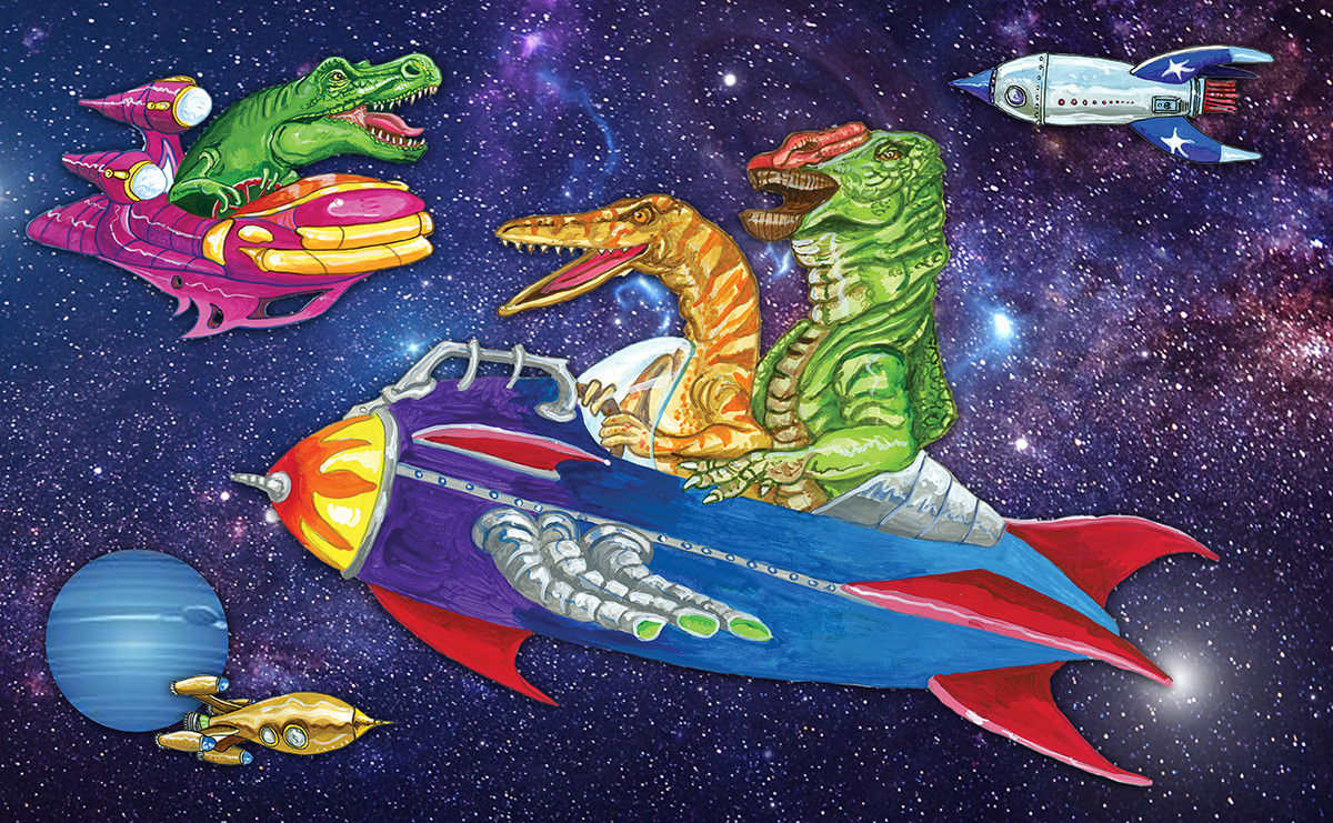 Dinosaurs and Rockets in Space!