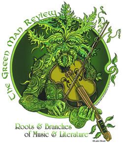 Green Man Review T-shirt (front)
