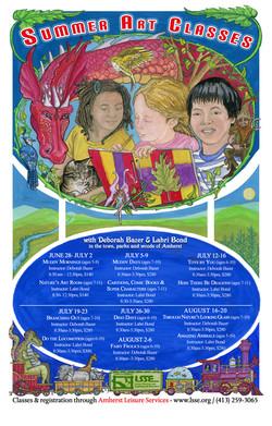 Summer Art Classes Poster 2