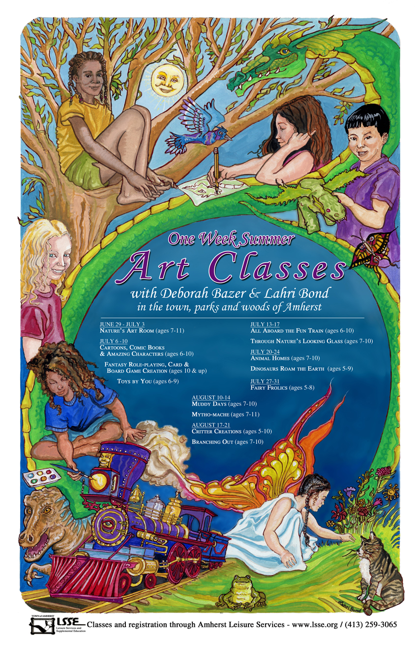 Summer Art Classes Poster 1
