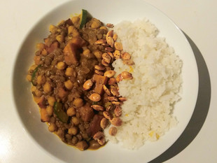 Lentil, Chickpea and Squash Curry Recipe