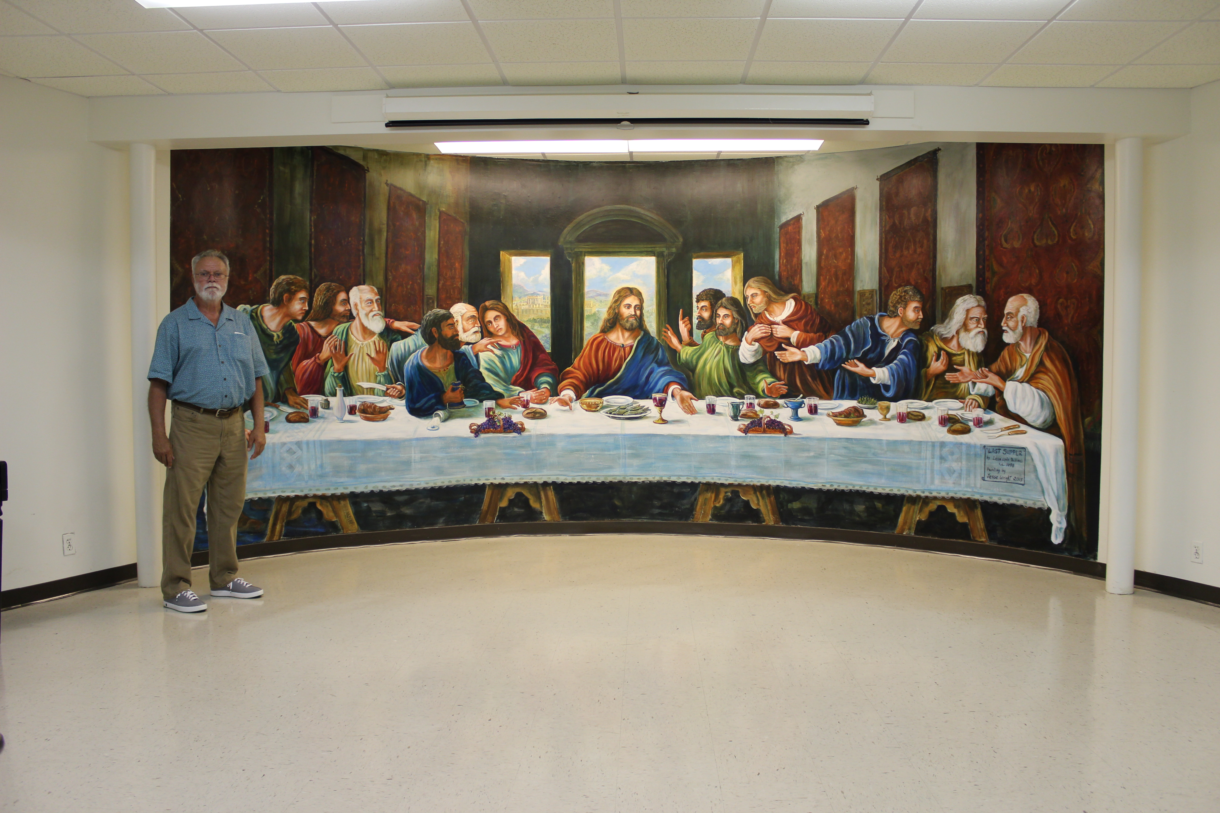Last Supper Mural completed
