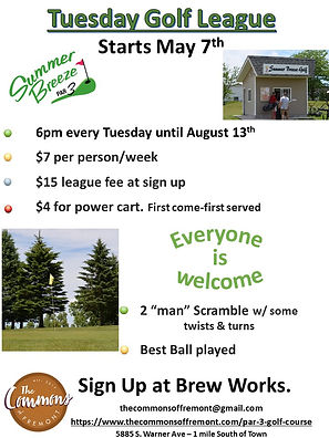 Tuesday Nigh Golf League Flier pic to po