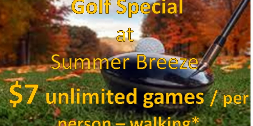 Fall Golf Special