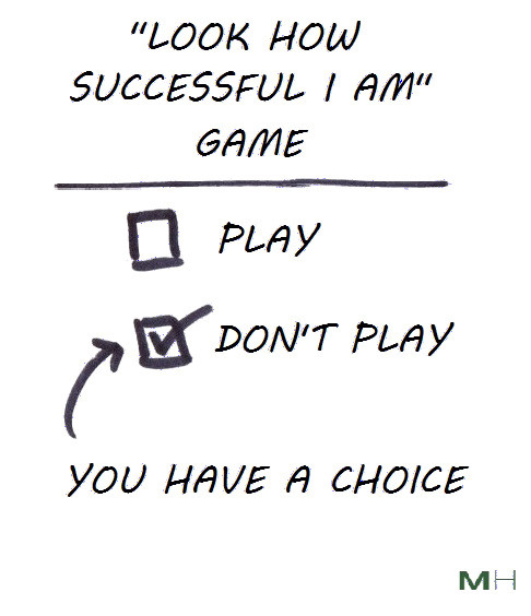 you don't have to play the game