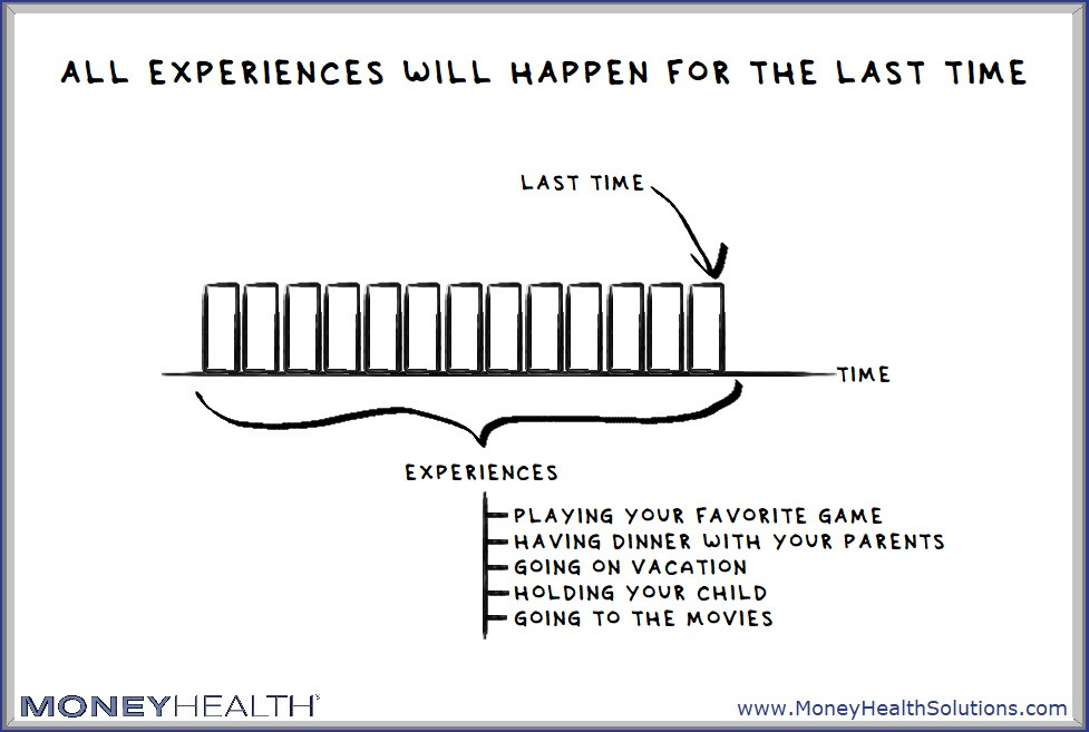 all experiences will happen for the last time