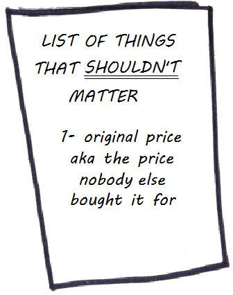 original price doesn't matter