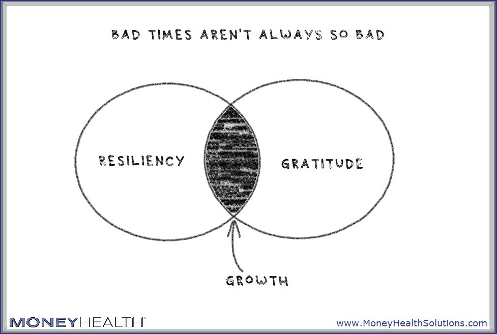 resiliency and gratitude help soothe bad times