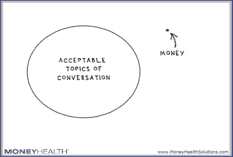 money is not an acceptable topic of conversation