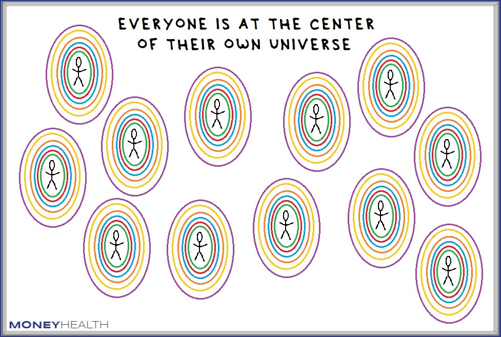 everyone else is the center of their own universe