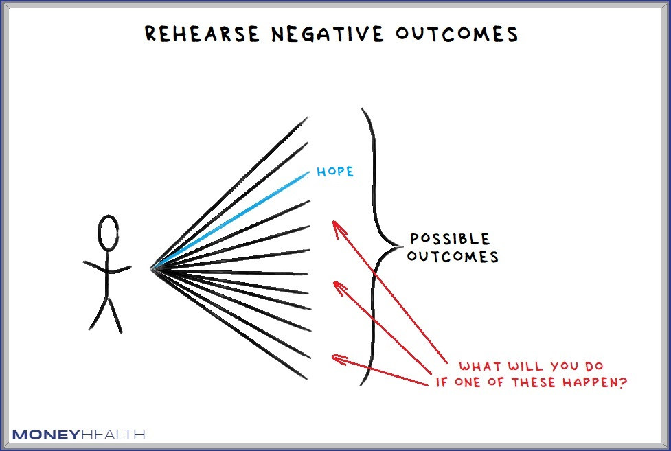 rehearsing negative outcomes can prepare us and make us less unhappy