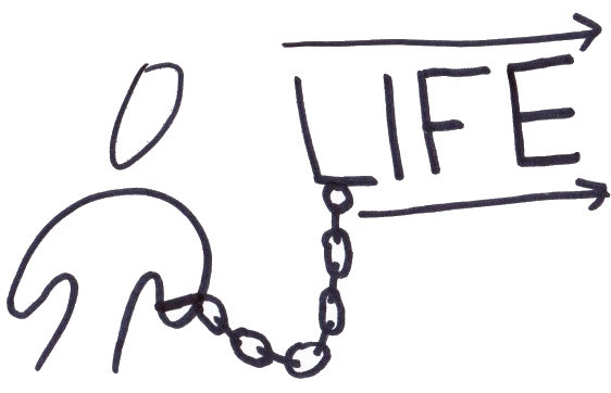 chained to life