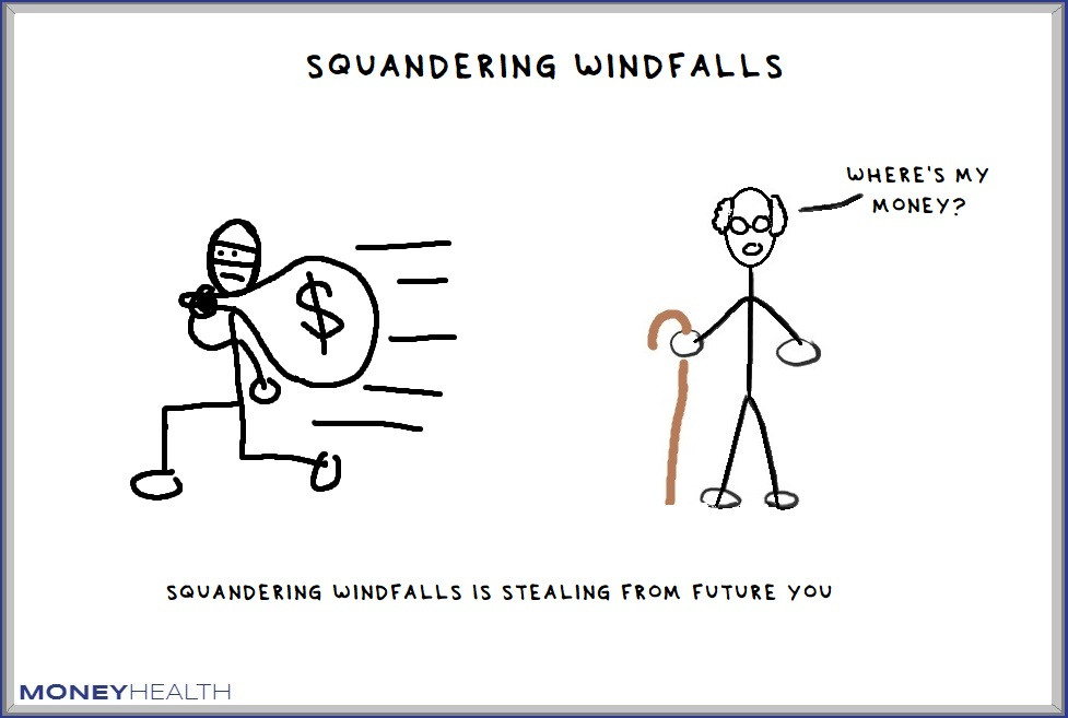 squandering financial windfall