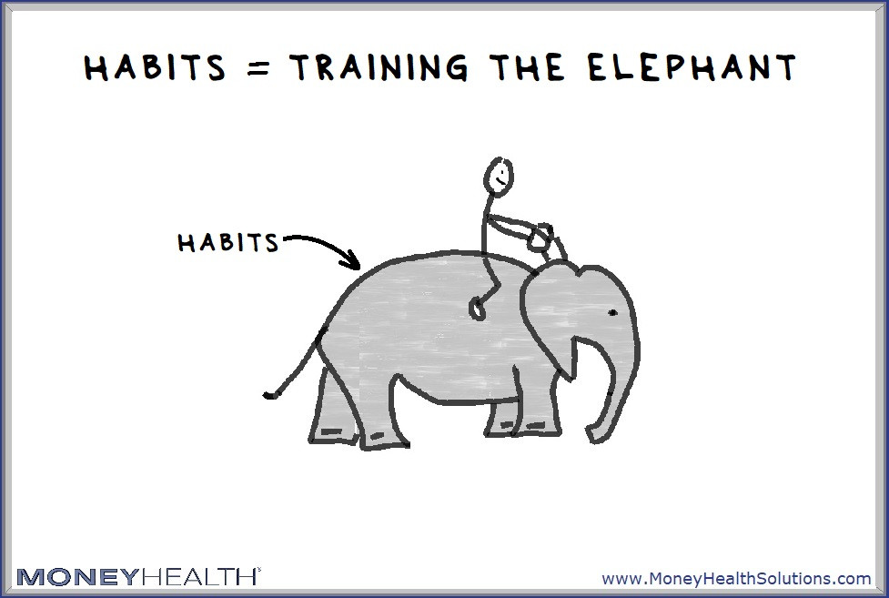 habits happen when we train our elephant to make good decisions for us