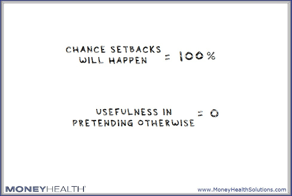 setbacks are going to happen and we shouldn't expect otherwise