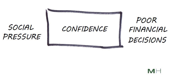 confidence is what's between social pressure and bad decisions