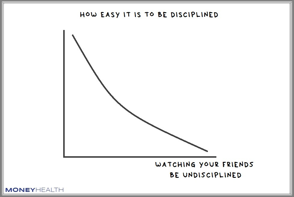 it's hard to be disciplined when your friends aren't