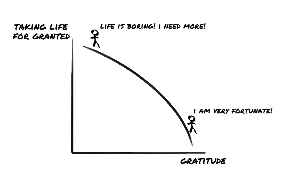 cultivate gratitude and don't take life for granted