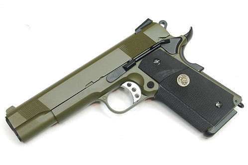 WE 1911 MEU OD Full Metal Gas Blowback Pistol (Rai