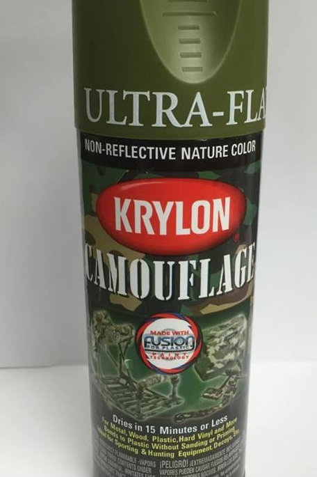 Krylon Camouflage Paint - Woodland Green
