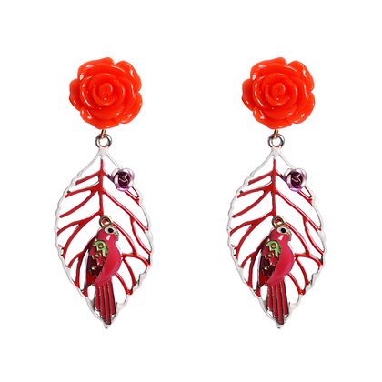 Polly The Parrot Earrings