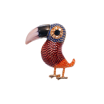 Toucan Brooch - Red