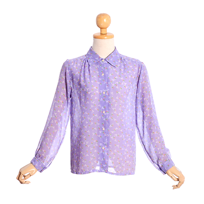 Lovely in Lilac Vintage Blouse